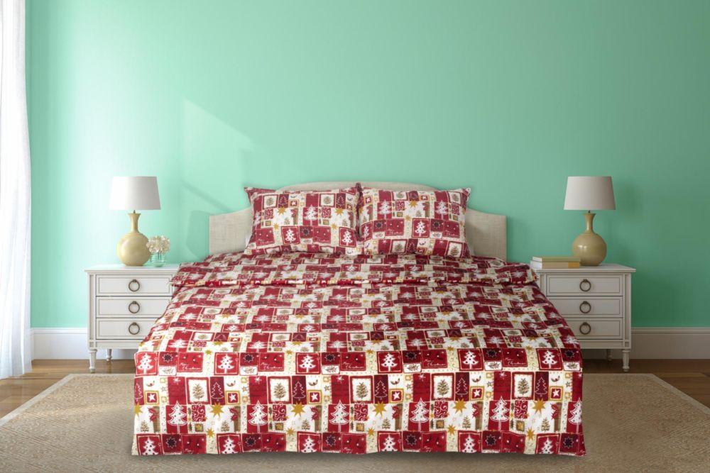 produse calde aspect nou vânzare profesională Lenjerie de pat dubla, Heinner Home, 4 piese, model Craciun cu ...