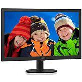 """Monitor LED TFT Philips 23.6"""", Full HD, VGA, DVI, Negru, 243V5LSB5"""