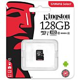 Card de Memorie Kingston Canvas Select 80R microSDXC 128GB Clasa 10 UHS-I 80MB/s
