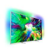 Televizor LED Philips Smart TV Android 75PUS7803/12 Seria PUS7803/12 189cm argintiu 4K UHD HDR Ambilight cu 3 laturi