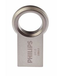 Memorie USB Philips 64 GB Circle Edition, FM64FD145B/10, USB 3.0, metalic