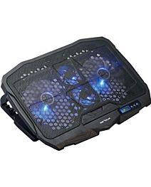"""Cooler laptop Serioux NCP025, 10-17.3"""", 4 ventilatoare, USB, negru"""