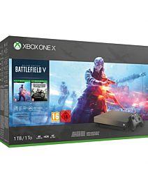 Microsoft Xbox One X - 1TB Battlefield V Gold Rush Special Edition Bundle