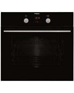 Cuptor incorporabil Hansa BOES68465, 8 Functii, Grill, Clasa A, Butoane push up, Display, Sticla neagra
