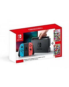 Nintendo Switch Console + Super Mario Odyssey + Splatoon 2