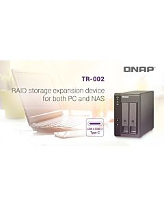 NAS QNAP TR-002 2-Bay 1 x Type-C RAID Negru