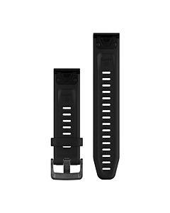 Curea ceas smartwatch Garmin Fenix 5S Plus, 20mm, QuickFit, Silicon, Black