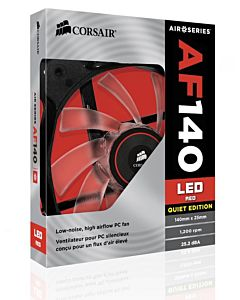 Ventilator Corsair Air Series AF140, 140mm, LED Red, Quiet Edition High Airflow