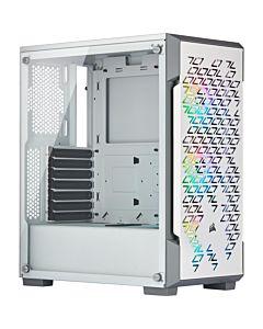 Corsair computer case iCUE 220T RGB Airflow Mid Tower ATX Smart Case, TG, White