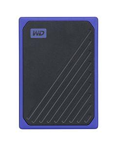 """SSD extern WD, My Passport Go, 1TB, 2.5"""", USB 3.0, Read speed: up to 400MB/s, Rezistent la socuri, Bumper din cauciuc, Negru & Albastru"""