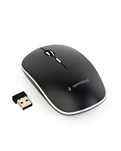 Gembird Wireless optical mouse MUSW-4B-01, 1600 DPI, nano USB, black