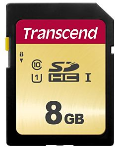 Memory card Transcend SDHC SDC500S 8GB CL10 UHS-I U1 Up to 95MB/S