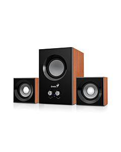 Bundle Genius 5x Speakers SW-2.1 375 + optical wireless mouse ECO-8015, Coffee