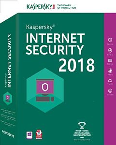 Securitate Kaspersky Internet Security 2018, 5 PC, 1 an, New License, Retail
