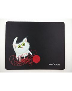 Mousepad Serioux MSP01, Cat and Ball of Yarn, 250x200x3 mm