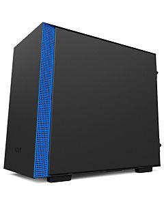 Carcasa PC NZXT H200 Negru Mat / Albastru