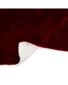 Patura fleece cu blanita Dark Red 127x150 cm Material : 100% Poliester