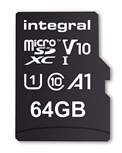 Integral 64GB MICRO SDXC 100V10, Read 100MB/s U1 V10 + ADAPTER