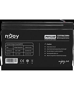 Acumulator VRLA nJoy, 12V 7Ah, PW7123D, conector F2/F2