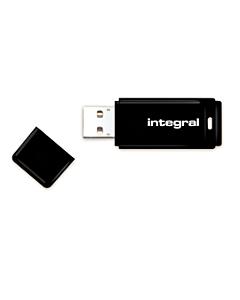 Integral Flashdrive Black 256GB USB3.0, Snap-on cap design, black