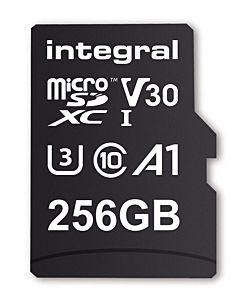 Integral 256GB MICRO SDXC 90V30, R:100MB/s W:90MB/s U3 V30 + ADAPTER