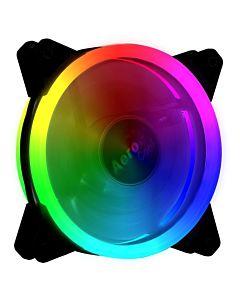 AEROCOOL REV RGB Ready DUAL RING LED Ventilator 120x120x25mm