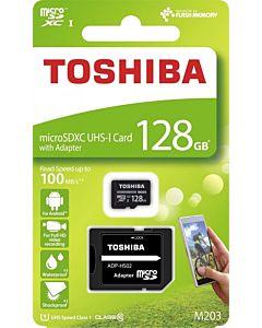 Toshiba memory card Micro SDXC 128GB M203 Class 10 UHS-I + Adapter