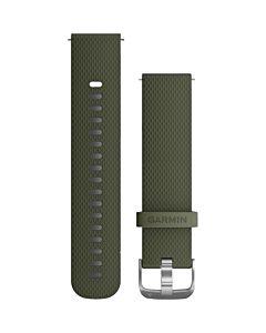 Curea ceas smartwatch Garmin, 20 mm, Silicon, Catarama Grey, Moss