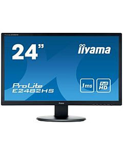 Monitor Iiyama E2482HS-B1 24'', TN, Full HD, VGA/DVI/HDMI, speakers