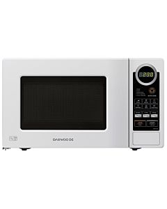 Microwave oven Daewoo KOR6S2DBW, 20L, 800W, Electronic, White