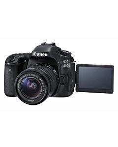 Aparat foto DSLR Canon EOS 80D BK, 24.2 MP,Wifi + Obiectiv EF-S 18-55mm IS STM