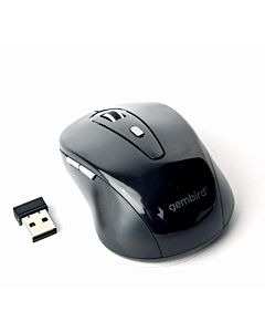 Gembird Wireless optical mouse MUSW-6B-01, 1600 DPI, nano USB, black