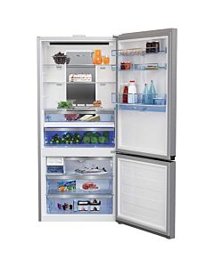 Combina frigorifica Beko RCNE720E30DP, 577 l, A++, NeoFrost, Active Fresh Blue Light, Dispenser Apa, Display Touch Control, 202 cm, Inox