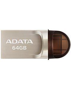 Adata USB-C, USB-A 3.1 Flash Drive UC370 64GB GOLDEN