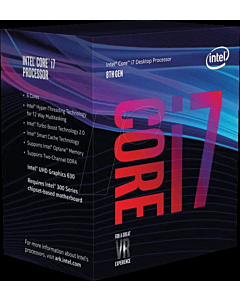 Procesor Intel® Core™ i7-8700 Coffee Lake, 3.2GHz, 12MB, Socket 1151 - Chipset seria 300, BOX
