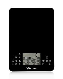 Cantar de bucatarie cu calculator de calorii Vakoss WH-6305K, negru