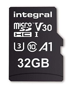 Integral 32GB MICRO SDHC 70V30, R:100MB/s W:70MB/s U3 V30 + ADAPTER