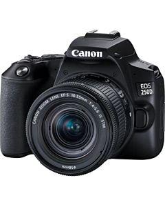 Aparat foto DSLR Canon EOS 250D, 24.1 MP, Wi-Fi, 4K, Negru + Obiectiv EF-S 18-55mm, f/4-5.6 IS STM