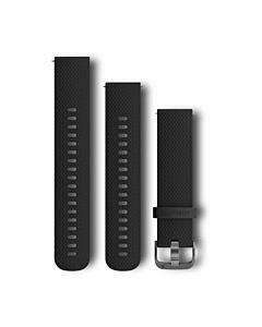 Curea ceas smartwatch Garmin, 20 mm, Silicon, Catarama Grey, Black