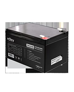 Acumulator VRLA nJoy, 12V, PW12123D, Terminal T2, Over 260 cycles, Alarm, Security systems, Cable television, Power Tools, UPS, Cycle Use: 14.4-14.7V, Max Current: 2.7A.