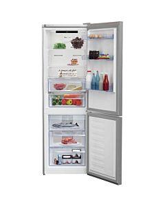 Combina frigorifica Beko RCNA366E30ZXB, 324 litri, NoFrost, Touch control, Clasa A++, H 185.9 cm, Argintiu