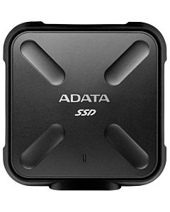 """SSD Extern ADATA SD700, 2.5"""", 256GB, USB 3.1, R/W speed: up to 440 MB/s, Dust/Water proof, Military-grade shockproof, Portable-slim and sporty design, Negru"""