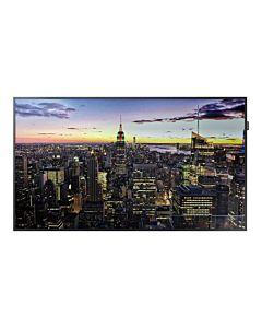 """Monitor 65"""" LFD Samsung QB65H, E-LED blu, 4K UHD 3840x2160, 16:9, 4000:1, 8 ms, 60 Hz, boxe integrate 2x10W, DVI, DP, 2xHDMI, HDCP2.2, Tizen 3.0, telecomanda, negru"""