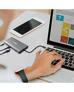 Unitek HUB 8w1 USB3.1 Typ-C With Power Delivery 100W, D1019A