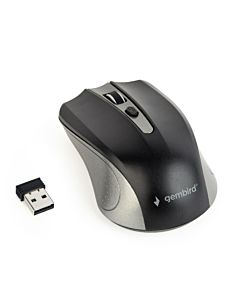 Gembird Wireless optical mouse MUSW-4B-04-GB, 1600 DPI, nano USB,spacegrey/black