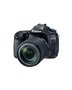 Aparat foto DSLR Canon EOS 80D BK, 24.2 MP, WiFi + Obiectiv EF-S 18-135mm IS