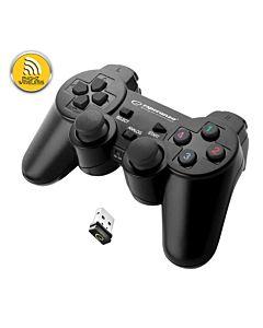 Gamepad ESPERANZA GLADIATOR EGG108K, vibratii, wireless, PC/PS3