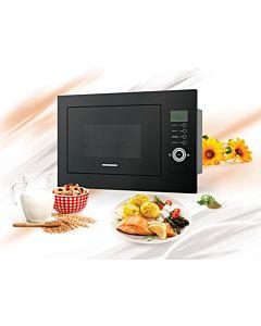 Cuptor cu microunde incorporabil Heinner HMW-25BIGBK, 25 L, 800 W, Grill, Control touch, Display LCD, Sticla Neagra