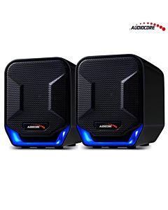 Audiocore AC865B 6W Computer Speakers USB Blue&Black