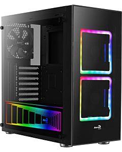 Carcasa ATX Aerocool TOR RGB TEMPERED GLASS - 2x140mm RGB FAN, 1x120mm BLACK FAN